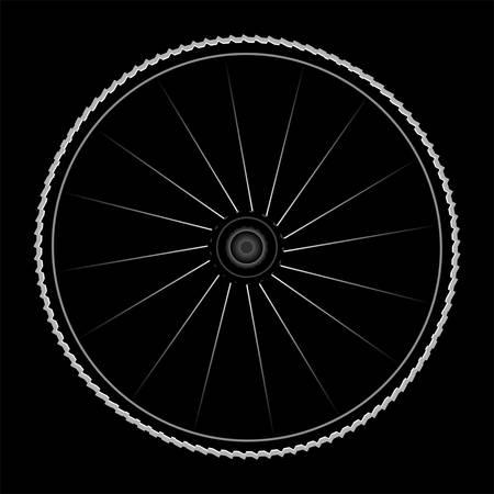 Bike wheel - vector illustration on black background Stock Vector - 13818041