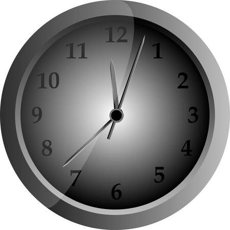 gray clock isolated on white background Stock Vector - 13825564