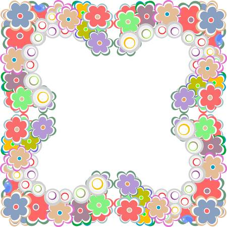 illustration of a cute flower border Vector