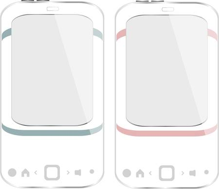 Beautiful white smartphone set on white background Stock Vector - 13825285
