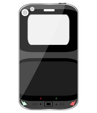 black smart phone isolated on white background Stock Vector - 13825312