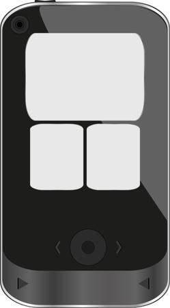 illustration of a modern smart phone for mobile communication Vector