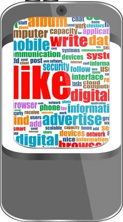 vector smart phone social media theme Vector