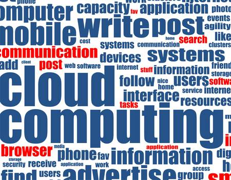 cloud computing - word background Illustration