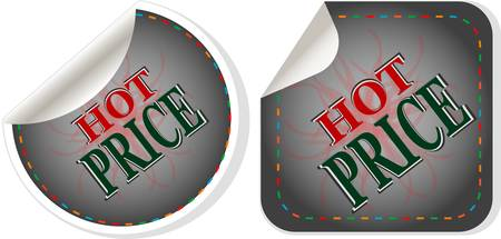 hot price: Hot price stickers set - vector label tag