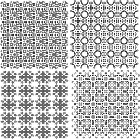 Geometric seamless patterns set, vector backgrounds collection Stock Vector - 13933091