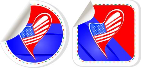 USA national and patriotic concepts for badge, sticker etc. Vector