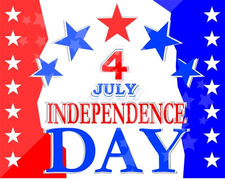 USA Independence Day Design - usa greetings vector background Illustration