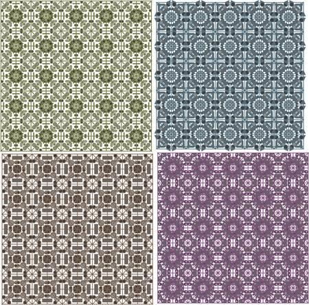 stylish seamless geometrical backgrounds pattern set. vector Vector