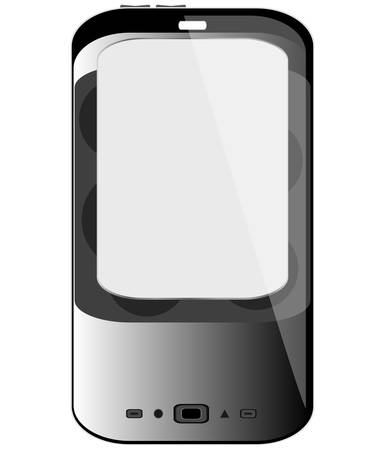 Cell smart mobile phone isolated on white Stock Vector - 13933073