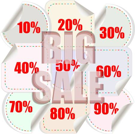 Big sale background with shopping banner pattern Vector