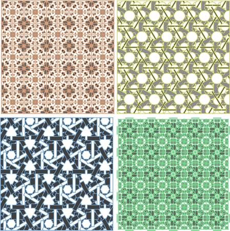 set with pattern in Arabian style Vector