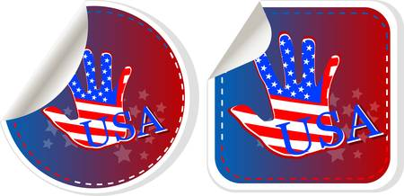 Set of US presidential election stickers in 2012 Vector