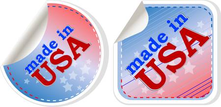 stickers label set - made in usa. vector illustration Vector