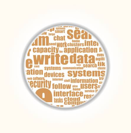 Like - social media concept in word tag cloud  Vector