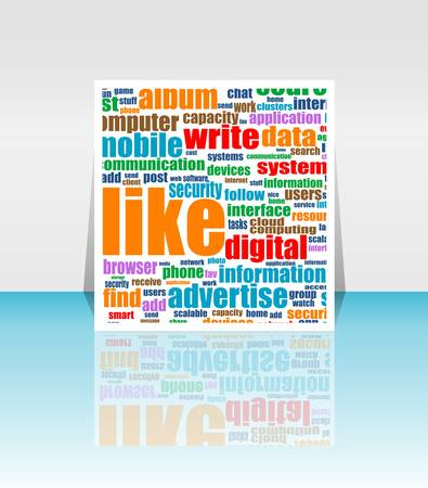 Social media Marketing - Word Cloud - Flyer or Cover Design Stock Vector - 14211467