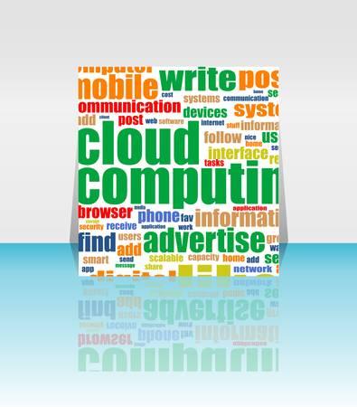 Cloud computing concept design - Flyer or Cover Design Vector