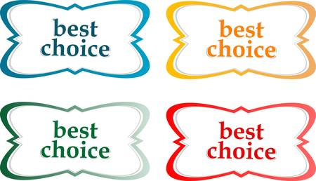 speech bubbles stickers set - best choice message Stock Vector - 14472602