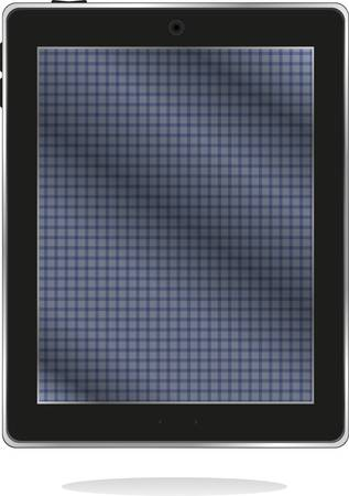 black tablet pc with abstract blue screen Vector