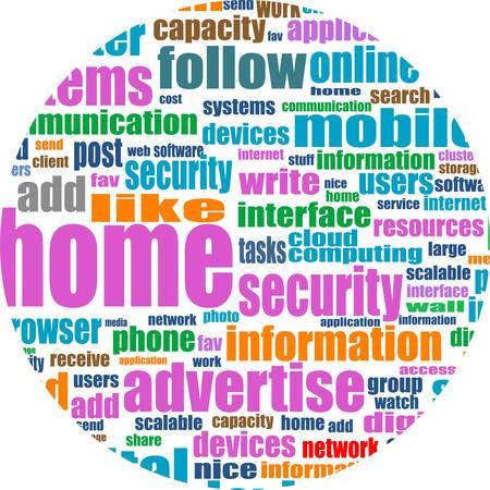 Illustration of social media concept. Social Media Wordcloud in circular shape Stock Vector - 14433947
