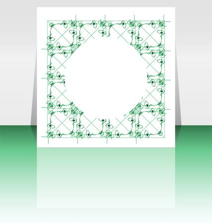 Flyer or Cover Design - green fashion background Vector
