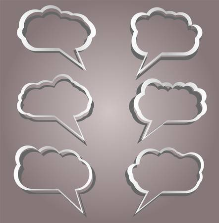 Speech bubbles set in vintage background Stock Vector - 14433699