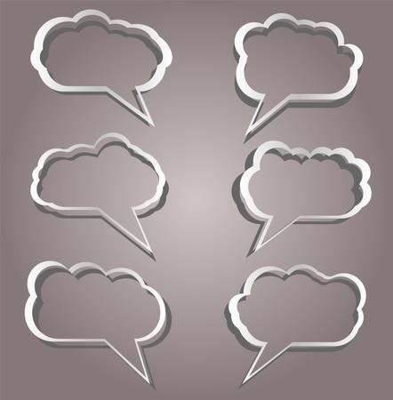Speech bubbles set in vintage background Vector