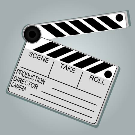 Movie Clapper Board on grunge background Stock Vector - 14433772