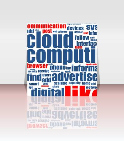 Cloud computing concept design, flyer or cover Stock Vector - 14433963