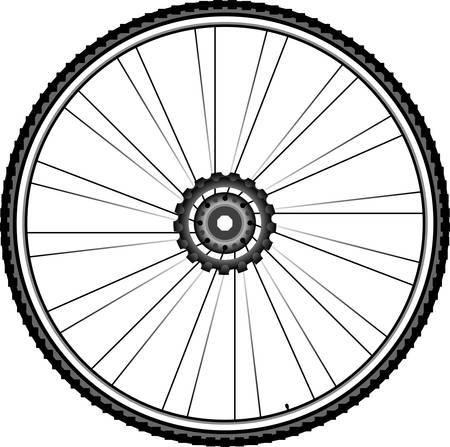Bike wheel illustration isolated on white background Illustration