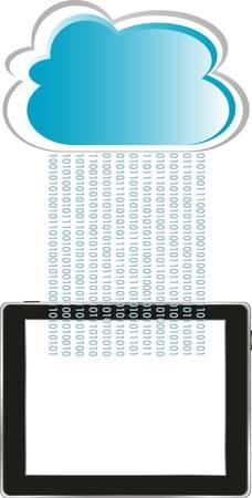 accessing: Cloud-computing conexi�n en el ordenador tableta digital para PC