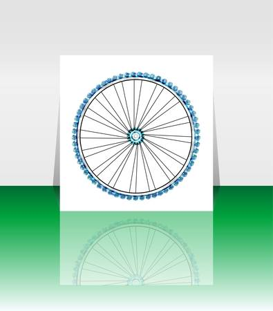 Bike wheel - vector illustration - flyer or cover Stock Vector - 14552084