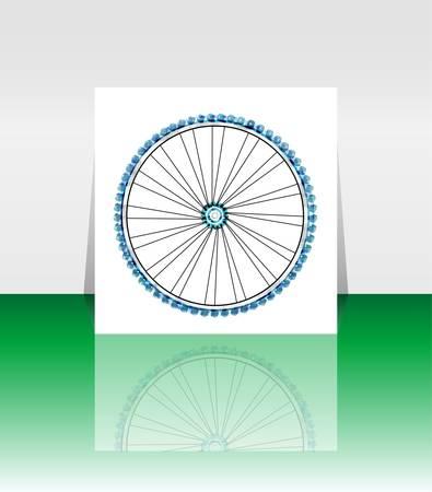 tire cover: Bike wheel - vector illustration - flyer or cover