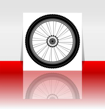 tire cover: Bike wheel flyer or cover - vector illustration
