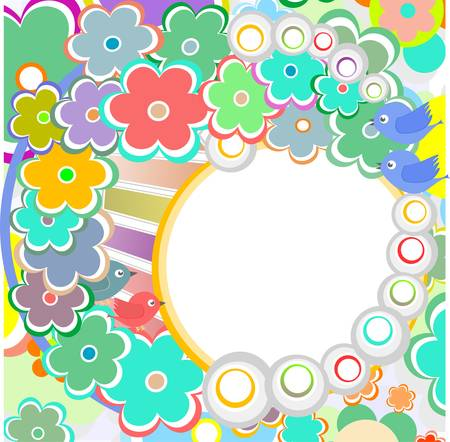 Pastel background with vector scrapbook elements in vintage style Vector