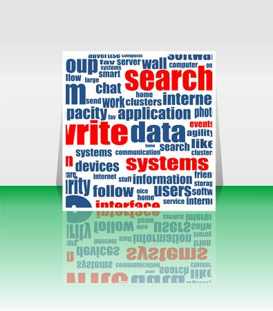 Word cloud social network. internet. community. flyer or cover Vector