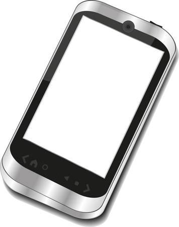 抽象的なタッチ スクリーンのスマート フォン 3 d ビジネス電話