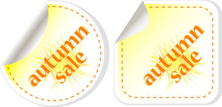 autumn sale stickers set isolated on white. vector Stock Photo - 15490013