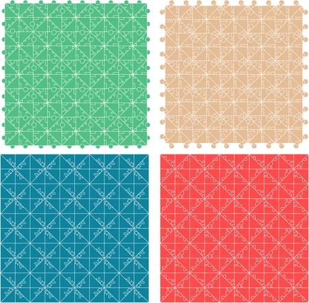 Seamless abstract pattern set for fabric and furniture  vector Stock Vector - 15490001