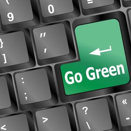 Кнопки: Клавиатура с ключом чтения Go Green