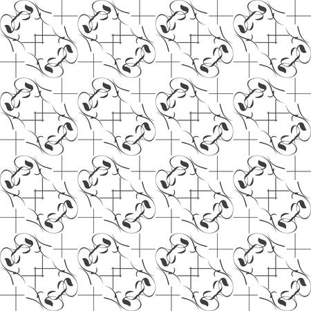 Mono black wallpaper with seamless repeating pattern background Stock Vector - 15463244
