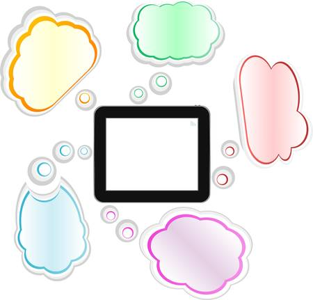 touch pad: cloud computing and touch pad concept  tablet pc