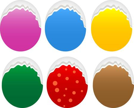 Torn oval paper set Stock Vector - 15463297