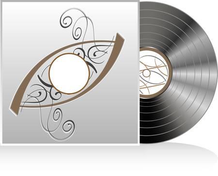 illustration of retro vintage vinyl record Vector