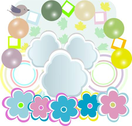 baby girl card with scrapbook elements Vector