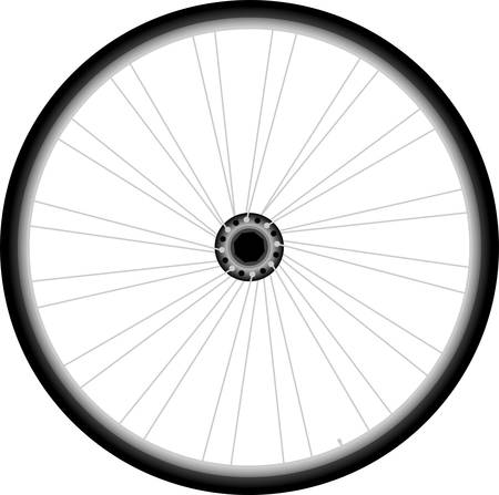 spoke: Bike wheel Illustration