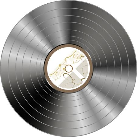 retro vintage vinyl record isolated  Vector