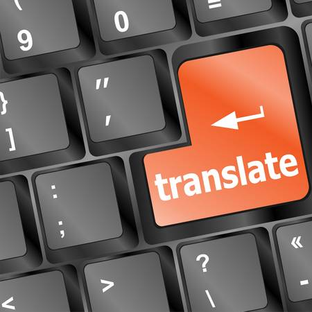 Translate button on keyboard  Vector