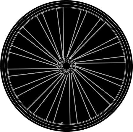 Conceptual abstract bike wheel