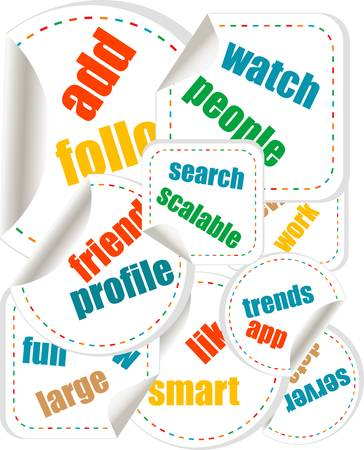 speech bubbles with business words Stock Vector - 15917489